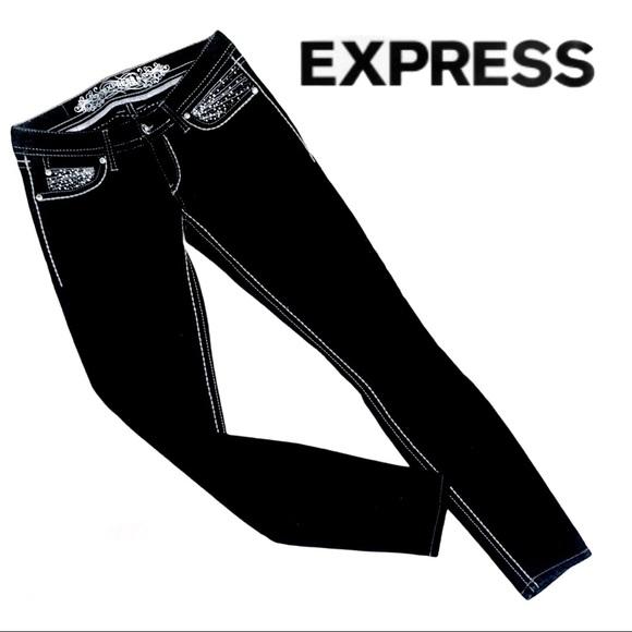 NWOT EXPRESS slim fit ultra low Jean Leggings Sz 4